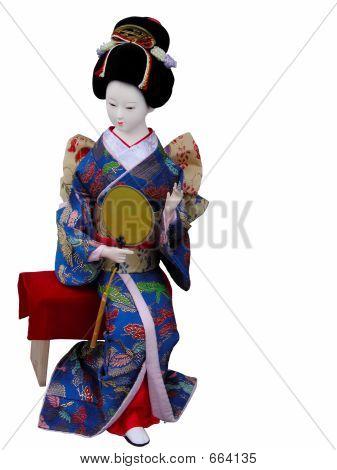 Geisha Puppe sitzen
