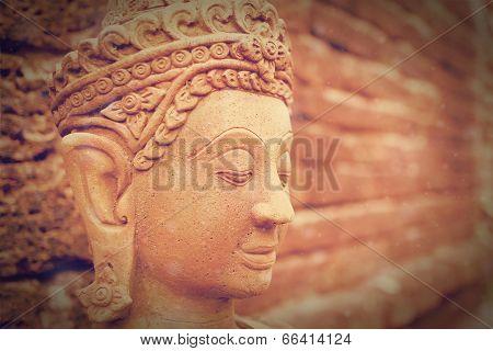 Vintage image of  Buddha statue