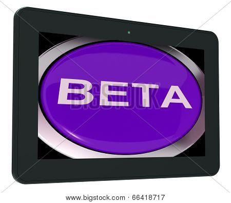 Beta Switch Shows Development Or Demo Version