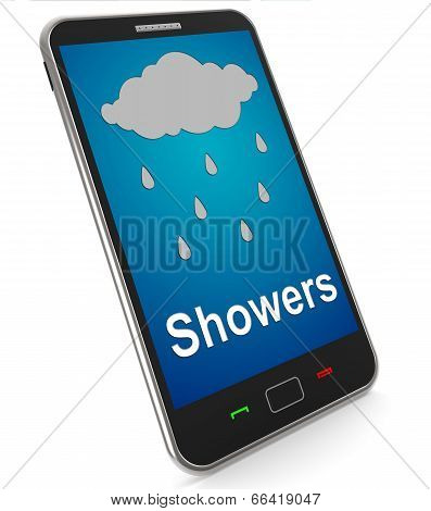 Showers On Mobile Means Rain Rainy Weather