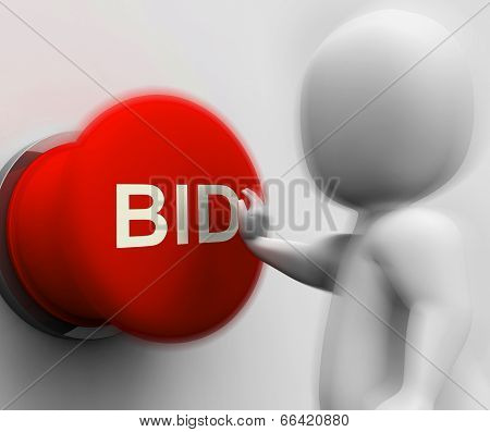 Bid Pressed Shows Auction Bidding And Reserve