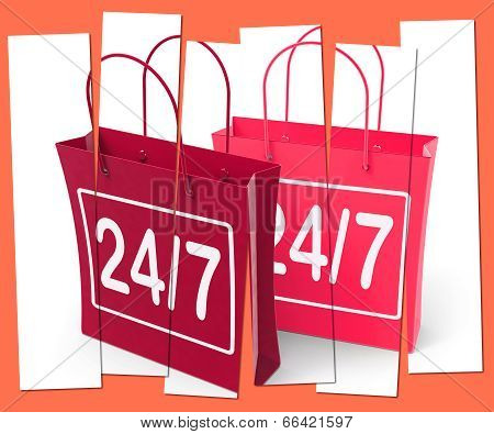 Twenty Four Seven Shopping Bags Show Hours Open
