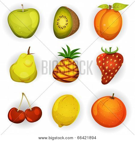 Fruit Icons Set