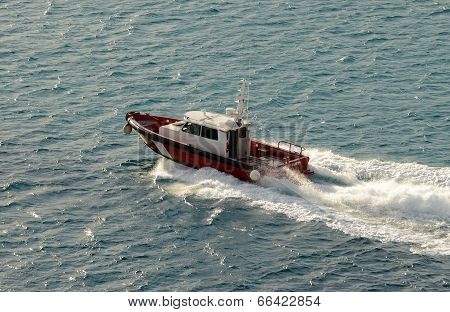 Pilot Boat Goes Out To Sea