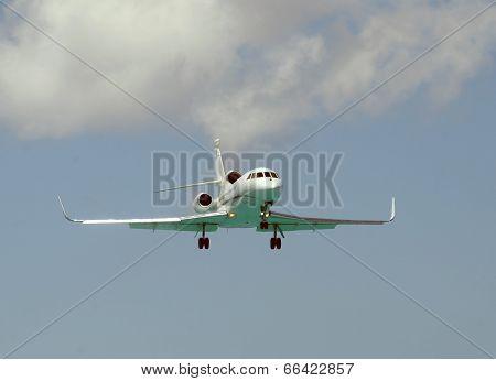 Modern Corporate Jet Landing