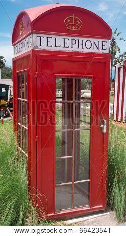 British Style Retro Phone Booth.