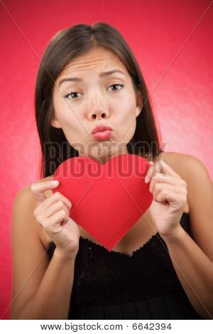 Funny Valentines Day Woman Alone