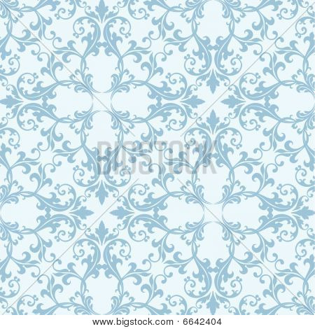Pale Blue Damask