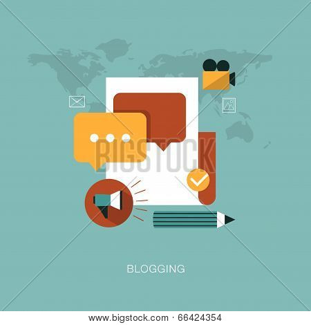 vector modern blogging concept illustration