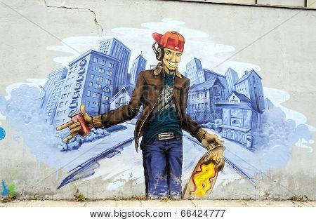 Anonymous Graffiti Image