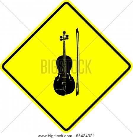 violin sign