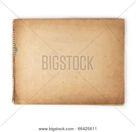 Old 1950s - 1960s sketchbook isolated on white.