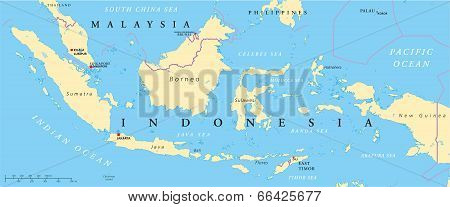 Malaysia And Indonesia Political Map