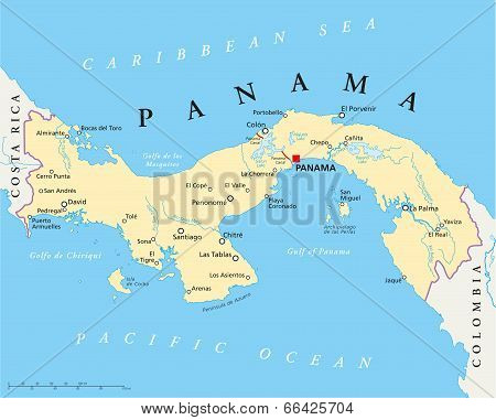 Panama Political Map