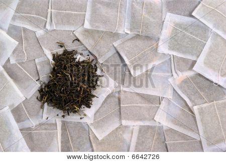 Tea bags and tea