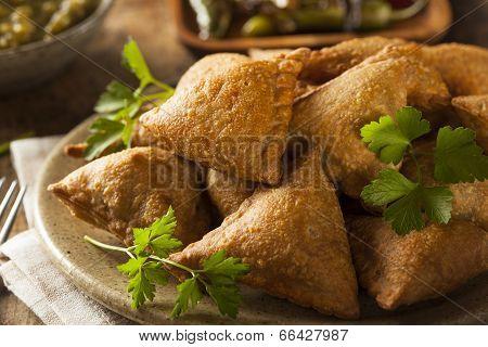 Homemade Fried Indian Samosas