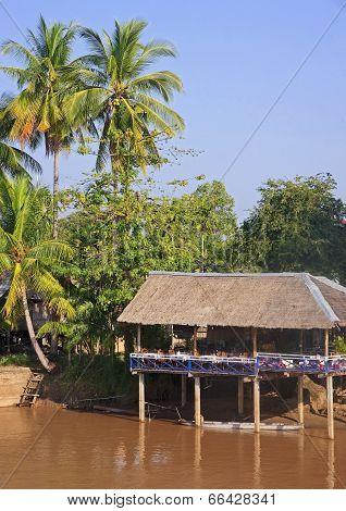 Restaurant On The River Mekong In Don Khon