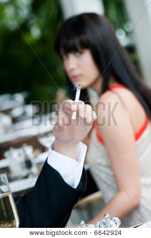 Cigarette At Restaurant