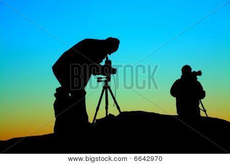 Fotógrafos no trabalho