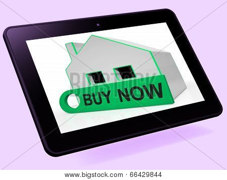 Buy Now House Tablet Means Express Interest Or Make An Offer