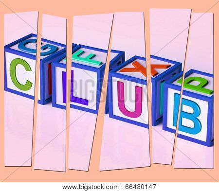 Club Letters Mean Membership Registration And Subscription