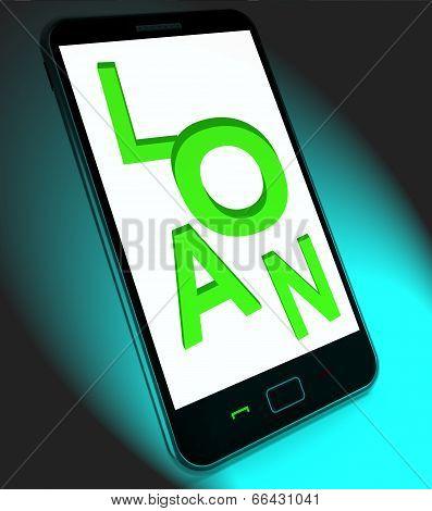 Loan On Mobile Means Lending Or Providing Advance