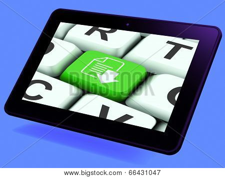 Download File Key Tablet Shows Downloaded Software Or Data