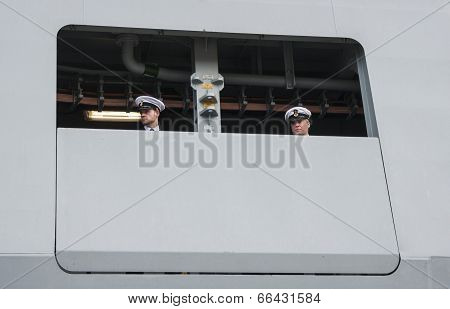 Two Sailors Of The Danish Frigate Hdms Niels Juel (f363)