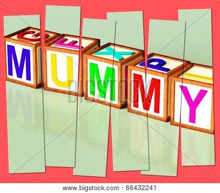 Mummy Word Mean Mum Parenthood And Children