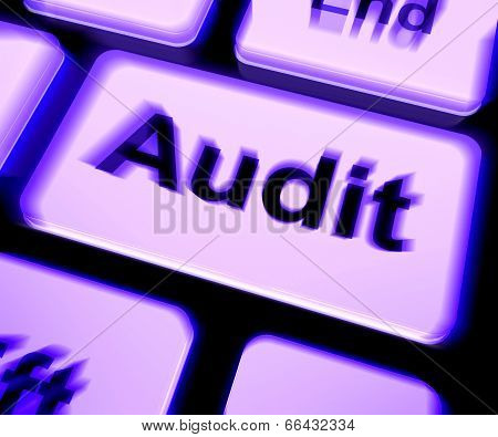Audit Keyboard Shows Auditor Validation Or Inspection