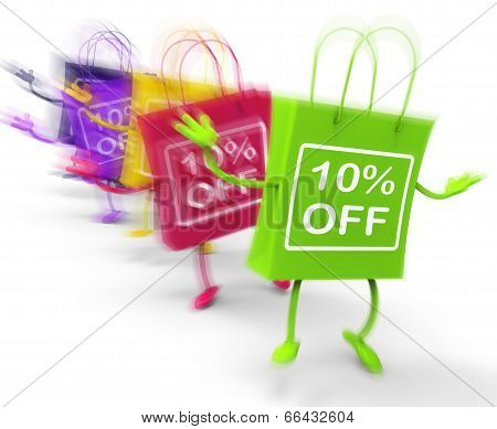 Ten Percent Off On Colored Bags Show Bargains