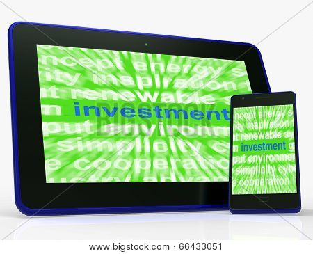 Investment Tablet Means Lending And Investing For Return