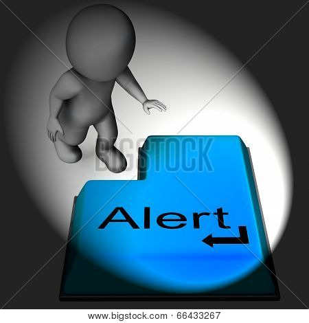 Alert Keyboard Shows Online Notification Or Reminder