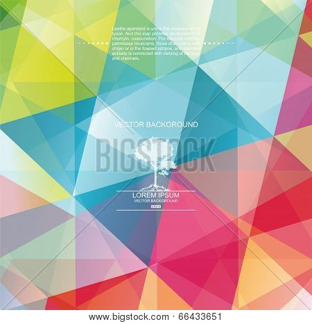 The Abstract Geometric 3D Background.