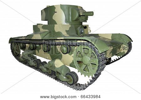 Old camouflage Flamethrower Tank