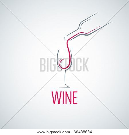 wine glass concept menu background