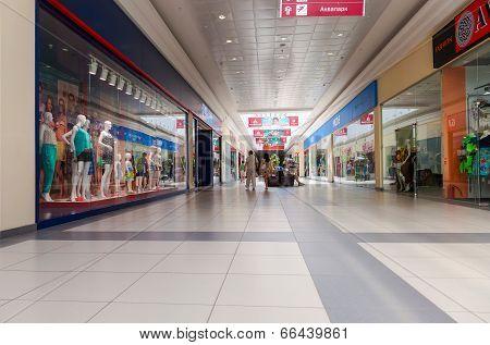 Samara, Russia - June 8, 2014: Inside Of The Samara Hypermarket Moskovsky. The One Of Largest Shoppi