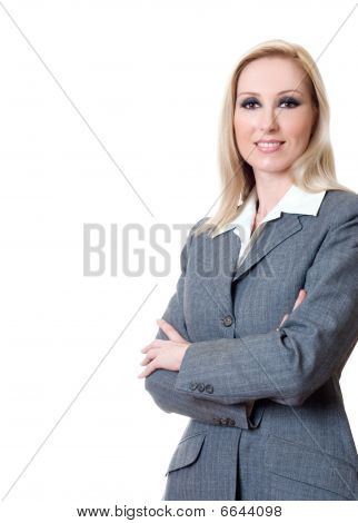 Smiling Businesswoman Arms Crossed