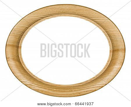 Wooden Picture Frame, On White Background, With Clipping Path