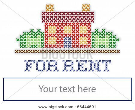 Real Estate For Rent Yard Sign