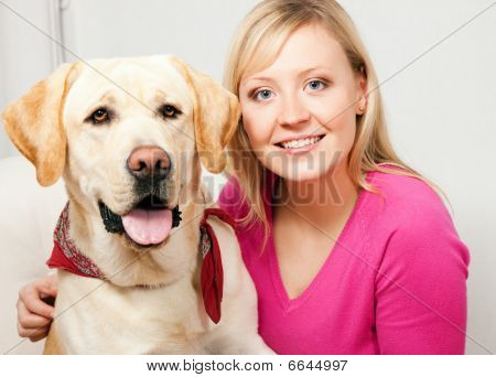 Labrador Retriever and mom