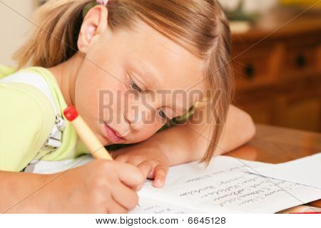 Child doing homework