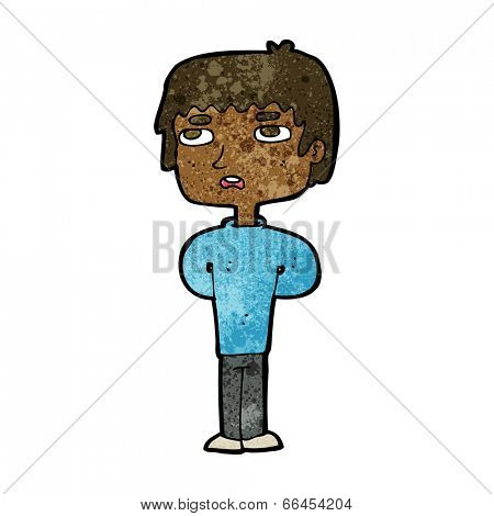 cartoon unhappy man