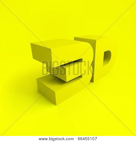 3D. Vector background.