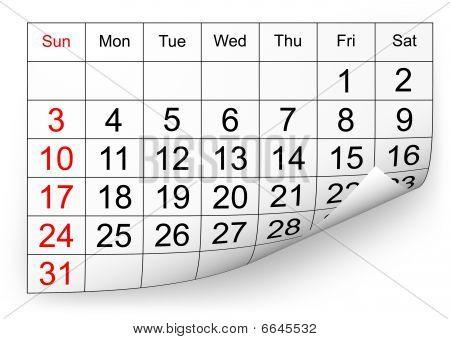 Calendário de janeiro de 2010