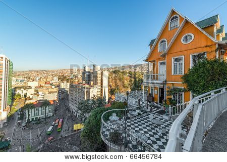 Orange House Overlooking Valparaiso