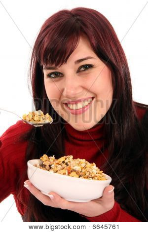 Pretty Girl And Muesli