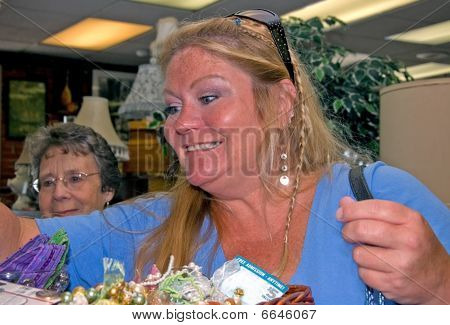 Middle Aged And Senior Women Shopping