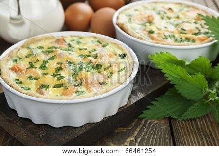 Quiche Pie With Fish And Nettles