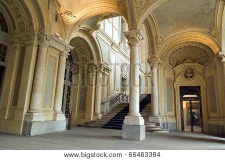 Palazzo Madama entrance, Turin, Italy